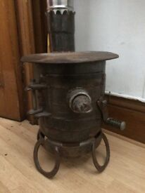 Beautiful Little Wood Burner. Hand Made by Welsh Sculptor. Ideal for vans, yurts and cabins