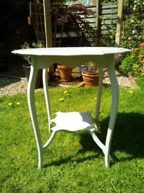 Octagonal occasional table dove grey