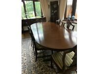 Mahogany Dinning Table with cabinets & sideboard