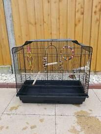 Large black bird cage
