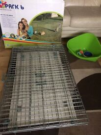 Indoor/Outdoor collapsable cage, run, litter tray for small animals - REASONABLE OFFERS CONSIDERED
