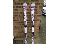 Great pair of girls 140cm Rossignol Lolita purple skis