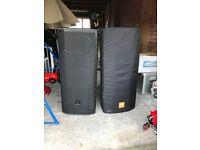 JBL 725 Active speakers/covers