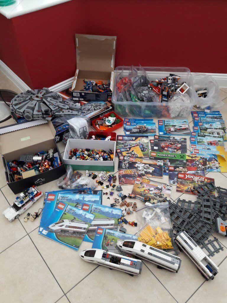 LEGO MIXED STAR WARS ,CITY ,TRAIN SET 60051, Star Wars Millennium PLUS MANUALS