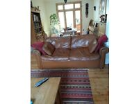Leather sofa bed needs TLC