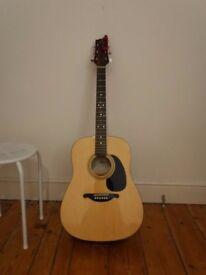 Acustic guitar plus tuner and guitar cover