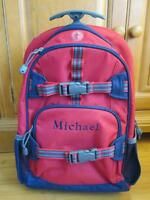 Pottery Barn Kids Mackenzie Rolling Backpack MICHAEL $90 new