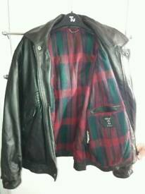 BLACK LEATHER JACKET LARGE mans