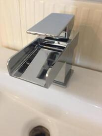 Excellent condition waterfall tap and basin