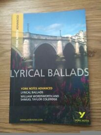 For Sale Lyrical Ballard's York Notes Advanced Brand New £3 only!
