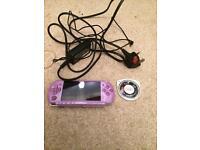 Rare purple Sony psp console
