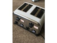 Argos toaster, like new 4 slice, used few times