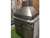 Stunning Falcon 1000 Deluxe range cooker oven & matching Extractor Rangemaster
