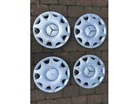 Set of Four Genuine Mercedes A Class hub caps.