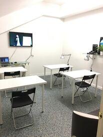 Room for small study group, seminars, workshops, art school, stylist show room, photo studio