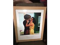 """Attractive Framed Jack Vettriano Print of """"The Last Great Romantic"""""""