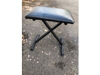 Height Adjustable Piano Keyboard Guitar Stool in Excellent Condition