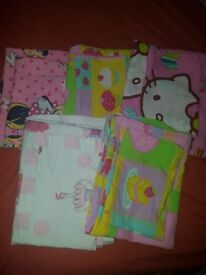 Girls cot bed sheets x5