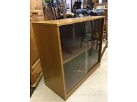 Office Storage Cabinet - Sliding Glass Doors - Good Condition - Must Go