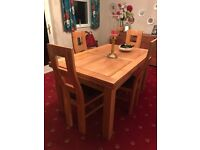 Beautiful oak furniture land dining table and chairs