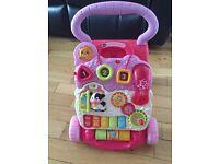Vtech first steps baby walker- pink - £5