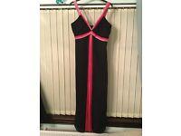 Debenhams Women Evening/Prom/Ballroom Dress - black and pink- size 16