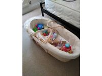 simple mosses basket from mother care with a baby walker free