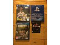 Call of Duty WW2 & Fifa 18 for PS4 new sealed