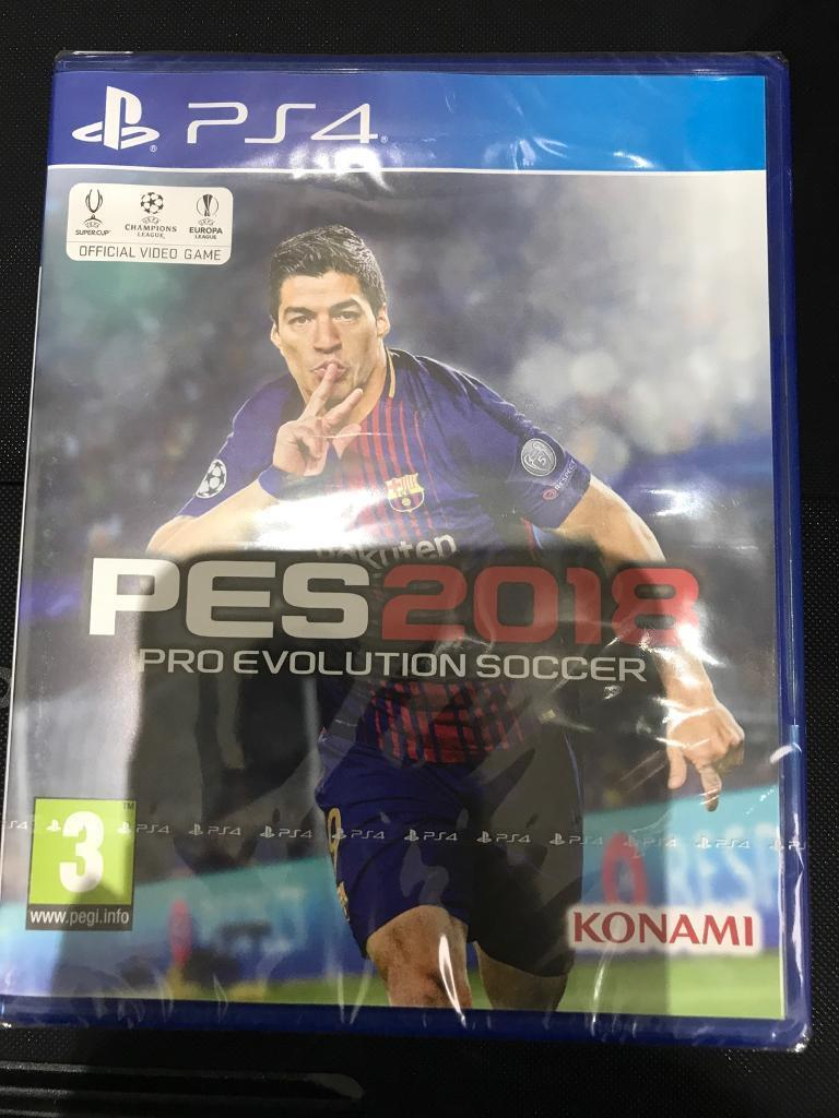 Pro Evolution Soccer 2018 Pes Evo Ps4 Brand New Sealed In