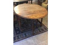 1930s Oak Gate Leg Table