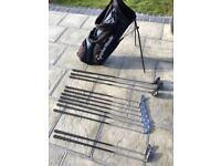 Arnold Palmer Golf clubs -including free stand bag