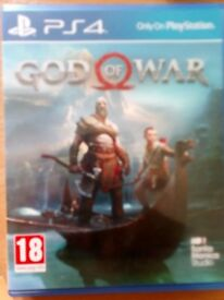 Ps4 game god of war used once