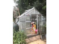 green house 10ft x 8ft toughened glass