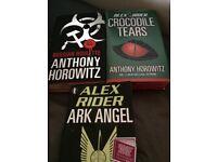 Set of 2nd Hand Hardback Alex Rider/Anthony Horowitz Books