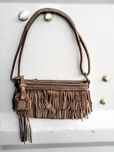 New Nine West Fringy Real Leather Purse Small brown Oakville 905 510-8720