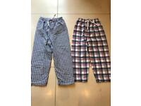White Company Pyjama bottoms size 7-8 excellent condition