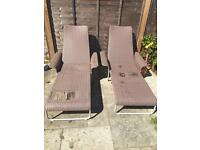 Free loungers - they do have holes on the base if anyone fancies recovering them