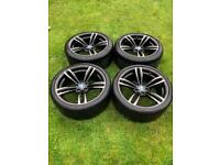 "Genuine 19"" BMW 437m Alloy Wheels + Tyres M2 M3 M4"