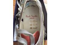 Paul smith boys grey canvas shoes size 32
