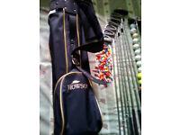 Howson Golf Bag with 10 Golf Sticks