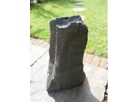 Solid slate water feature