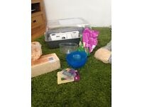 Hamster cage and accessories in great condition