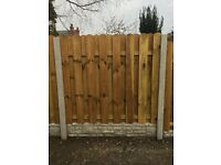 Solid wood fence panel