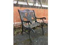 Old Quirky Sunflower Design Cast Iron Garden Chair Can Deliver Localy