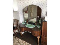 Vintage Dressing Table Solid Wood