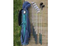Set of Northwestern golf clubs