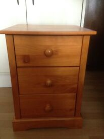 Baltic Pine Bedside Drawer Cabinet- New