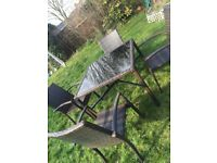 Garden table and chairs rattan 4 seater