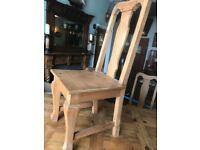 Large wooden table and 8chairs