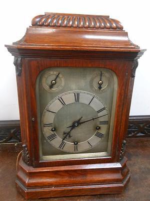 good victorian winterhalder & hoffmeir westminster bracket clock on gongs
